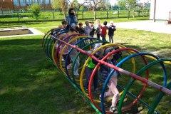 Najmłodsze przedszkolaki ćwiczą, by być sprawni jak strażacy - grupa I
