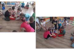 4-Dzieci-mieszaja-w-misce-porwane-kawalki-papierow-z-woda