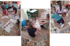 6-Dzieci-z-rozlozonych-na-podlodze-roznych-gazet-wydzieraja-wybrane-obrazki-i-tworza-w-grupach-kolaz-na-dowolny-temat
