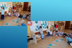 Dzieci-wieszaja-kolejno-wykonane-motyle-na-tablicy