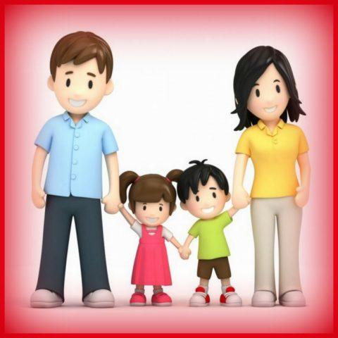 rodzicei dzieci trzymające się za ręce